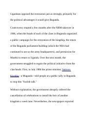 Ugandans opposed the restoration just as strongly.docx