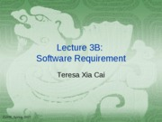 Lecuture 5 Software Requirement