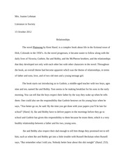 Relationships Paper
