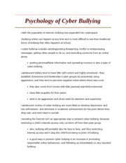 term paper about cyber bullying
