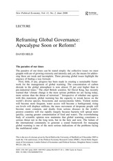 Held Reframing Global Governance