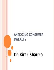 Analyzing Consumer Markets.ppt