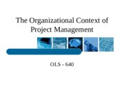 The Organizational Context of PM-Required