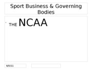 NCAA Revenue Distribution spring 2010 notes