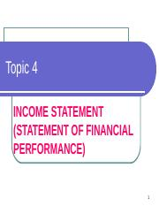Topic 4 - Income Statement - Slides
