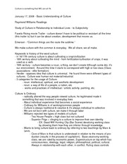 COMM206 - Paper #3 extra notes