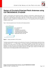 Design of Circularly-Polarized Patch Antennas using CST MICROWAVE STUDIO (2)