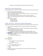 CHAPTER 2 PS262 THE BEGINNING OF THE PERCEPTUAL PROCESS.docx