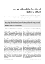 defense of self