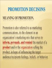 Promotion Decisions.ppt