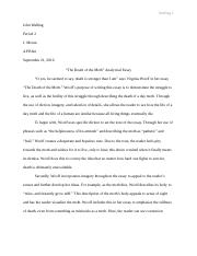 The Death of a Moth Analytical Essay