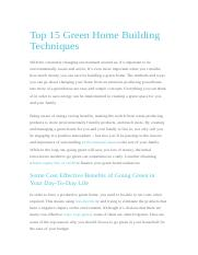 TOP 15 GREEN HOME BUILDING TECHNIQUES.docx