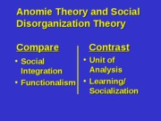 9 - Anomie and General Strain Theories