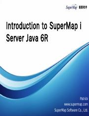 Introduction to iServer java 6R.pptx