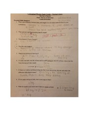 Newton's Laws Study Guide PHYS 100