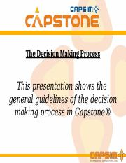 MBA500 Capsim Simulation Decision Making Process.ppt