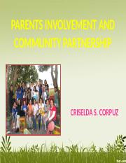 Parents Involvement and Community Partnership.pptx