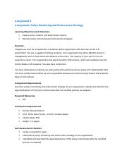 ITS 3050 Assignment 8 Policy Monitoring and Enforcement Strategy.docx