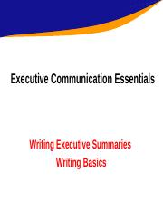 Writing Executive Summaries and Writing Basics.ppt