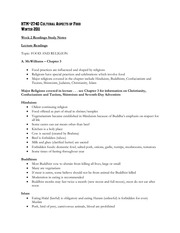 Week 2 - Reading Study Notes