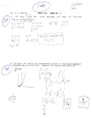 MATH 203 KUDISH EXAM 3 SUMMER 2013