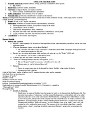 Final Study Guide -ENGL 2270
