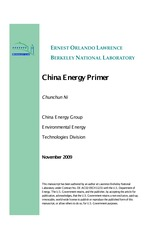 China Energy Primer - Berkeley National Laboratory (2009)