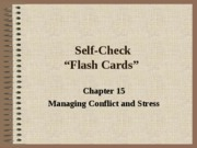 Self Check Chapter 15