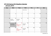 ATY 253L Winter 2014 Deadline Calendar