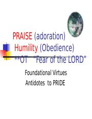 Praise _ Humility