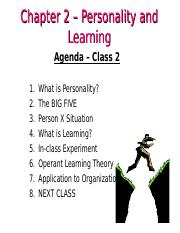 MGHB02 Class 2 - Personality and Learning Slides.ppt