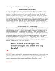Advantages and Disadvantages of a Large Family.docx