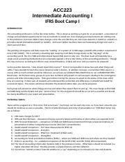 IFRS Boot Camp I