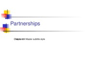 Partnerships Chapter 1