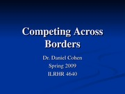 ILRHR4640 Lecture 10- Competing Across Borders