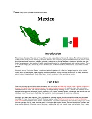 Characteristics of Mexico communitcation