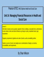 339958348-Lesson-2-Pearson-BTEC-HND-Diploma-Unit-14-Managing-Financial-Resources-in-Health-and-Socia