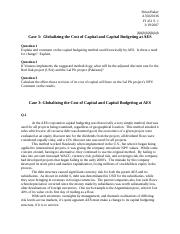 globalizing the cost of capital budgeting 1 how would you evaluate the capital budgeting method used historically by aes 2 if you implemented the methodology suggested by venerus, what would be the range.