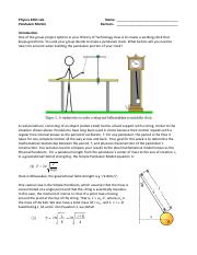Simple & Physica Pendulums_FR