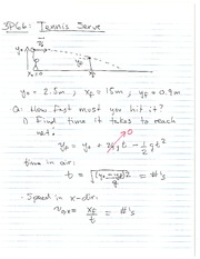 PHYS 101 Fall 2013 Projectile Motion Examples Lecture Notes