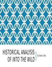 Historical Analysis Of Into The Wild.pptx