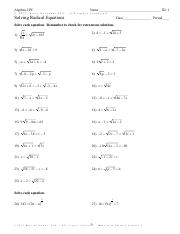 Solving Radical Equations- HW sheet.pdf