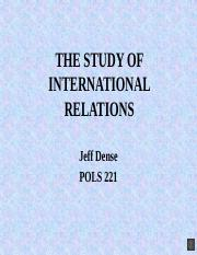 02 THE STUDY OF INTERNATIONAL RELATIONS