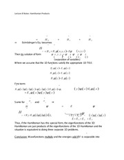 Lecture 8 Notes Hamiltonian Products