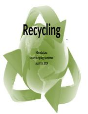 Recycling proyect