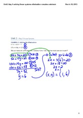 elimination method complex smartboard answers