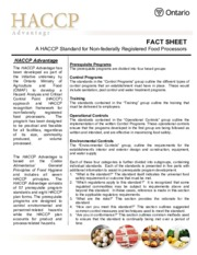 haccp_advantage Fact Sheet