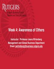 Wk4 Awareness of Others
