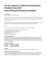 President's Day Scholarship Essay Competition 2013_.docx