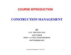 Class 1 - COURSE INTRODUCTION_CE 401IU 10-9-2015